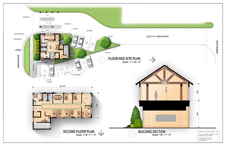 Site plan rendering for How to read construction site plans